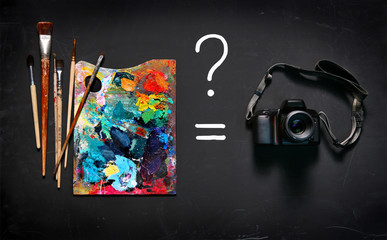 Art paints or digital camera?