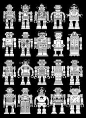 Vintage Retro Tin Toy Robot Collection