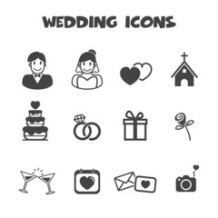 wedding icons