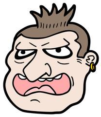 Hooligan face character