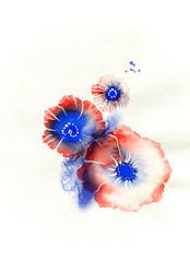 flowers .abstract background
