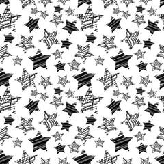 seamless black star pattern vector