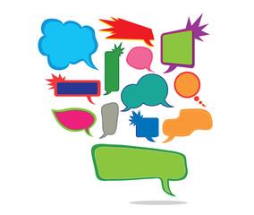 speech bubbles set of colorful