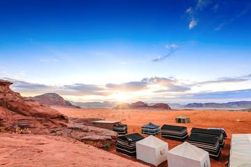 Scenic view of Jordanian desert in Wadi Rum, Jordan