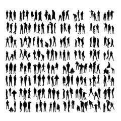 Two hundred Model Silhouettes of men. Part 1.
