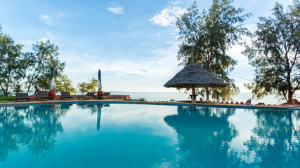 Swimming pool by the Indian Ocean