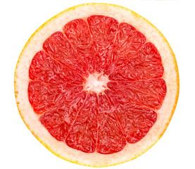 Poster Vruchten full grapefruit slice on white