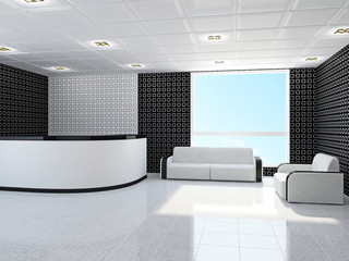Office with furniture