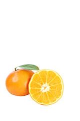 Mandarin oranges isolated.
