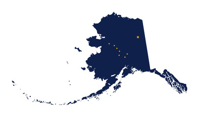 State of Alaska flag map Wall mural