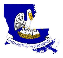 State of Louisiana flag map