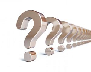 question mark row