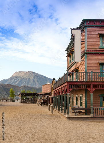 Wall mural Mini Hollywood Western Town Almeria Andalusia Spain