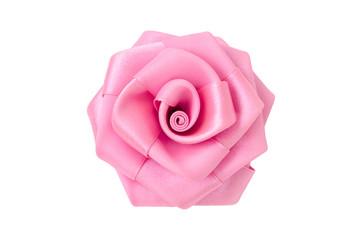 Rose made of fabric.
