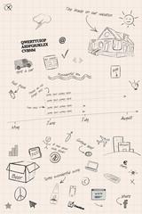 Sketchy timeline and planning notes