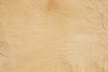 old crumpled paper texture light brown