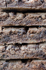 gestapelte Brownies
