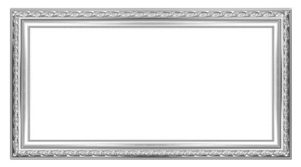 The old silver wooden frame