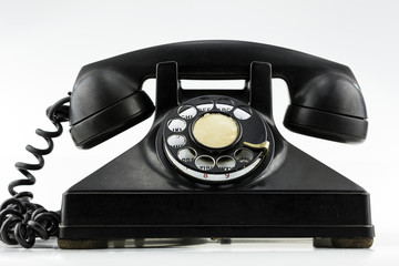 Front View of Vintage Phone