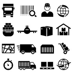 Shipping and cargo icons