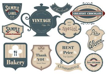 Vintage label, sticker A