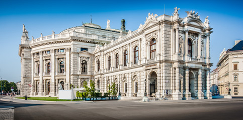 Printed roller blinds Vienna Burgtheater at famous Wiener Ringstrasse in Vienna, Austria