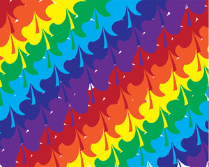 vector shamrock rainbow