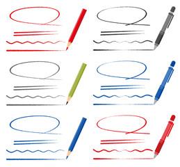 鉛筆 ペン ライン