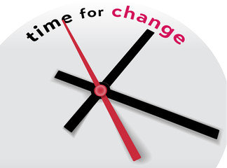 Clock hands tell Time for a change