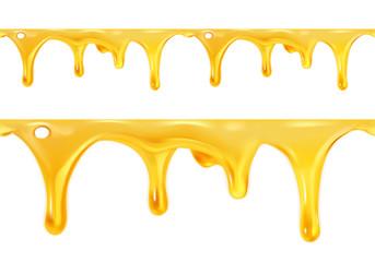 Obraz Sweet honey drips seamless vector - fototapety do salonu