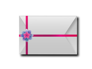 The envelopes with colorful ribbons.For the meaning of your mess