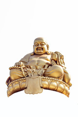 Smiling Golden Buddha Statue