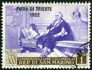 SAN MARINO - 1952: shows Christopher Columbus