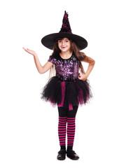 halloween witch making presenting gesture