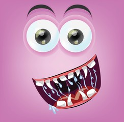 Мультфильм рад монстр лицо