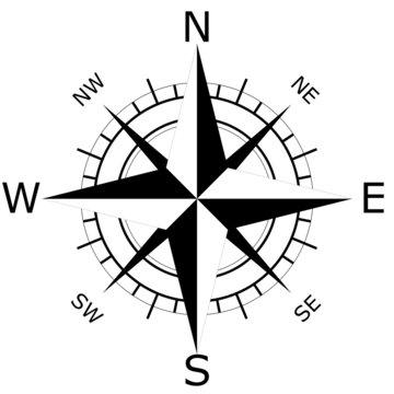 Kompass Schwarz