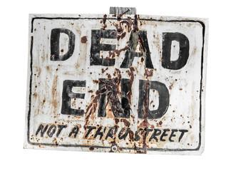 Creepy dead end sign