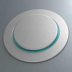 Blank Push Button Or Switch Shows Copyspace
