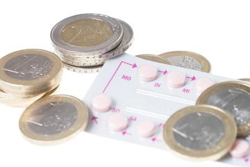 Antibabypille und Münzgeld