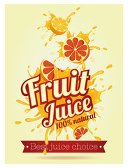 Fresh juice poster illustration