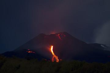 Mt. Etna, Southeast Crater lava flow