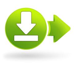 Ordinateur icônes symbole clip art bouton télécharger maintenant.