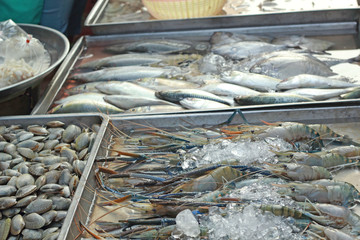 Fresh Seafood in the market