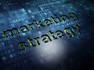 Marketing concept: Marketing Strategy on digital screen