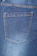 Blue Denim Jeans Pocket Close Up Details