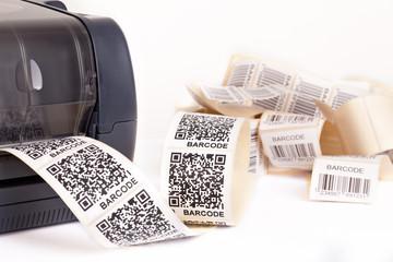 Wall Mural - barcode label printer