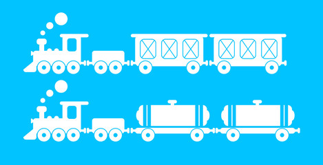 freight train with wagons