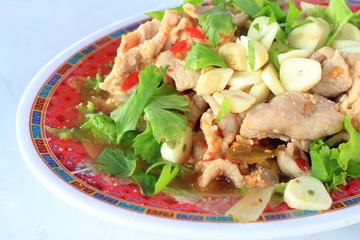 Pork Salad spicy Thailand