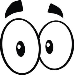 Black And White Cute Cartoon Eyes