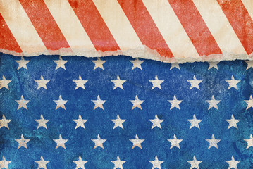 Grunge American flag background.